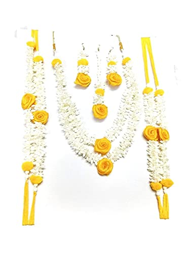Buy Urban Sigma White Artificial Flower Jewellery For Women Set Of