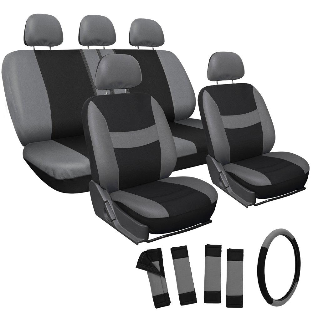 OxGord Mesh Seat Cover For Car Truck Suv Or Van Gray Black 17