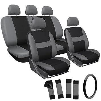 OxGord Mesh Seat Cover For Car Truck Suv Or Van Gray Black