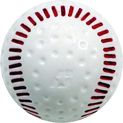 """Details about  /Lot of 10 Baden Used Dimple Pitching Balls Dimpled Baseball Batting Cage 9/"""""""