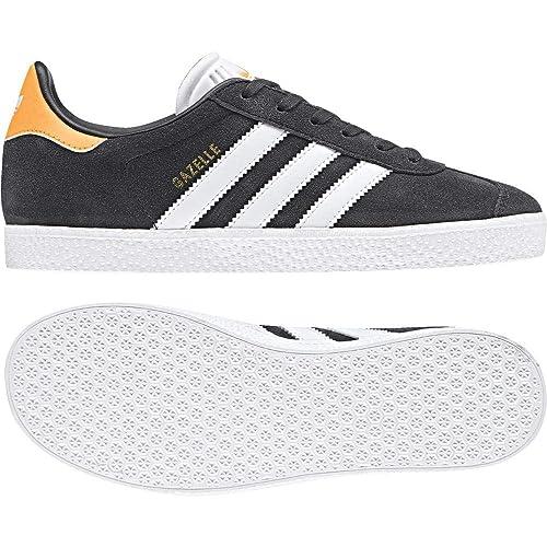 Adidas Gazelle J, Zapatillas de Deporte Unisex para Niños, Gris (Carbon/Ftwbla/Ororea 000), 37 1/3 EU: Amazon.es: Zapatos y complementos