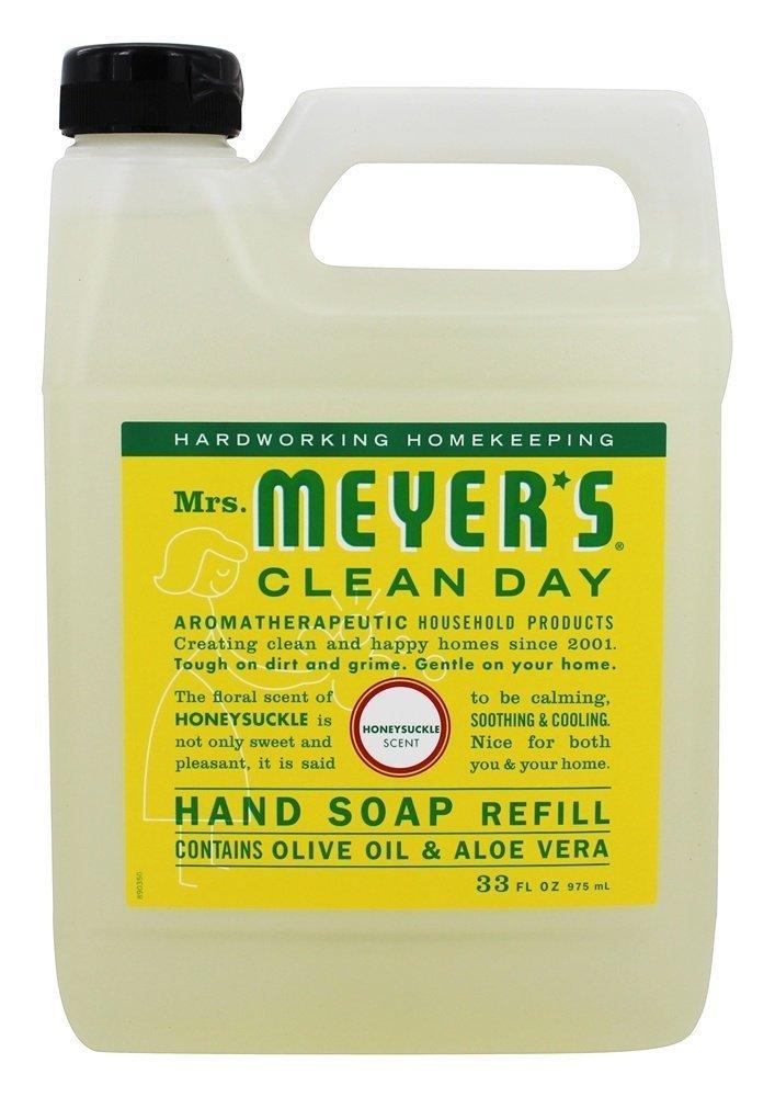 Mrs. Meyers Liquid Hand Soap Refill Honeysuckle, 33 Fl Oz
