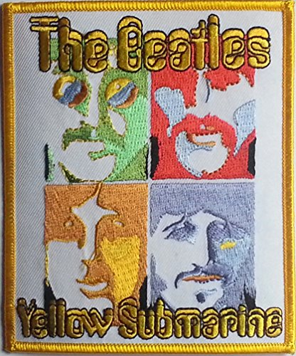 Beatles   Portrait Sea Of Science Embroidered Patch 10Cm X 12Cm  4  X 4 3 4