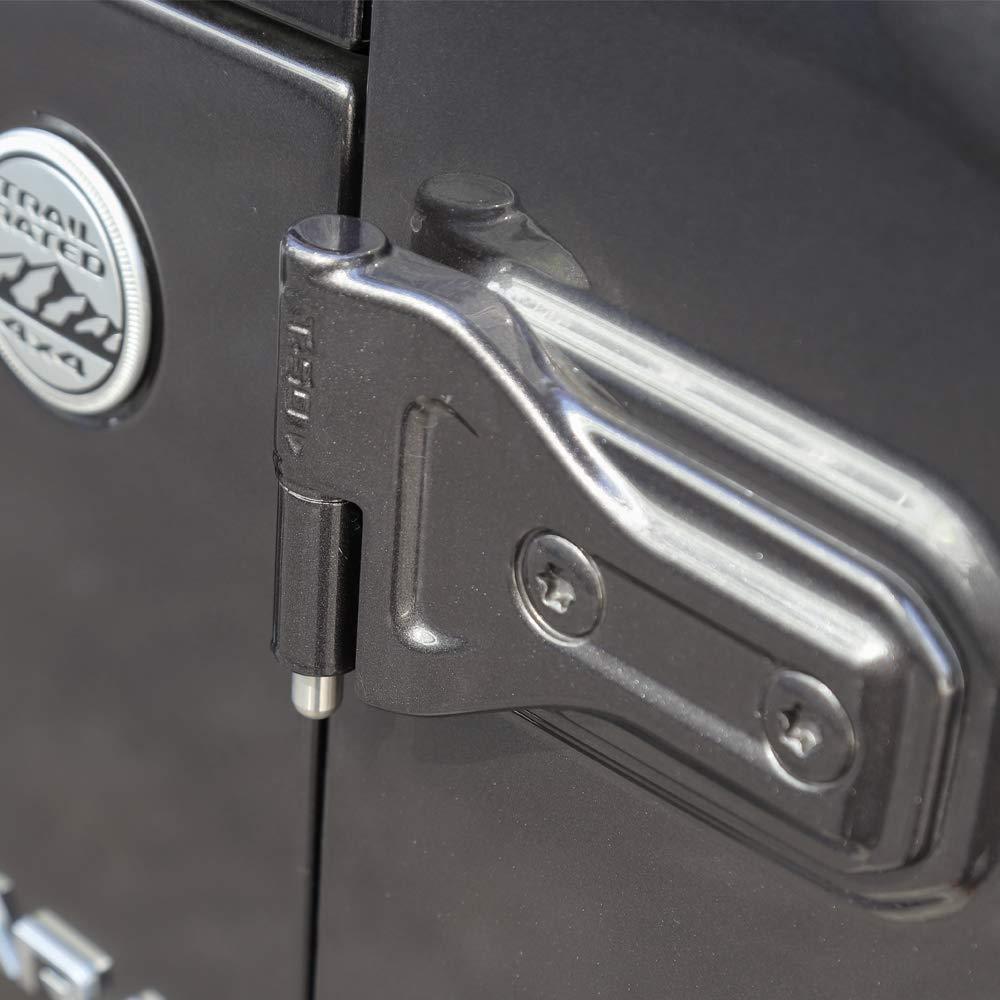 Door Hinge Pin Bolts Guides Liners for 1997-2018 Jeep Wrangler TJ JK JL 8 PCS
