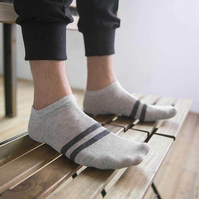 AMIUBO 5 Paare Männer Jungen Casual Rutschfeste Breathable Bequeme Unsichtbare Bootssocken Socken