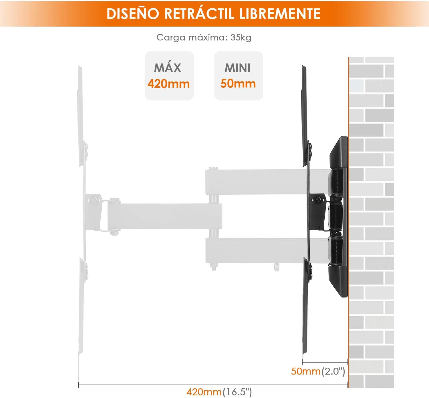 SIMBR Soporte de Pared para TV de 17