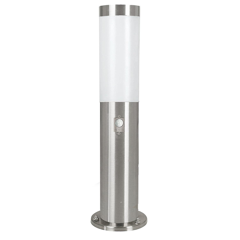 Eglo Helsinki 83279 Outdoor Base Light with Stainless Steel Sensor Diameter 7.5 cm Height 45 cm Steel [Energy Class B]