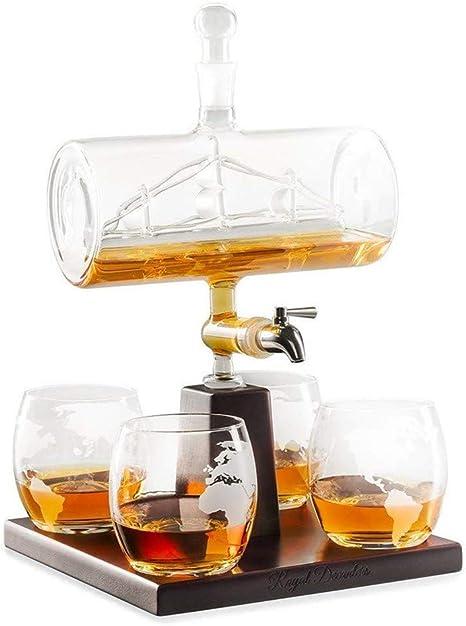 Mr. Fragile 1000 ml Licorera de Whisky,Viene con 4 Copas ...
