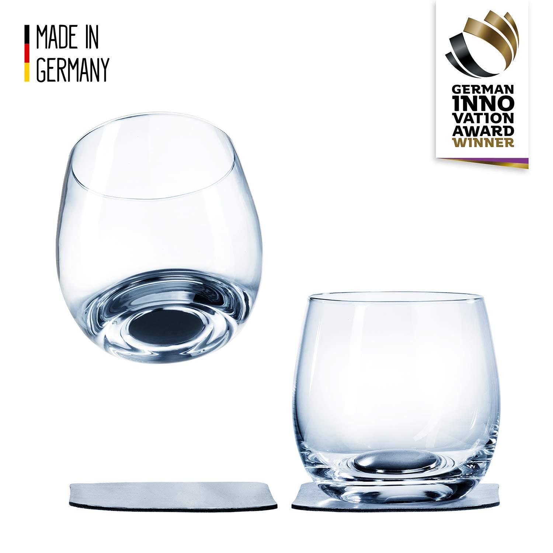 bicchieri da campeggio antiscivolo accessori per barca e yacht silwy magnetic drinkware bicchieri di cristallo di alta qualit/à con materiale integrato e sottobicchieri metallici birra