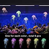 6 PCs Artificial Jellyfish, Artificial Jellyfish Ornament for Aquarium Fish Tank