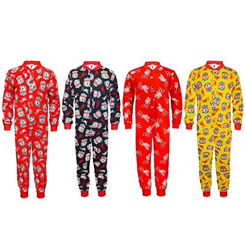 Liverpool Football Club Official Soccer Gift Boys Kids Pajama All-in-One