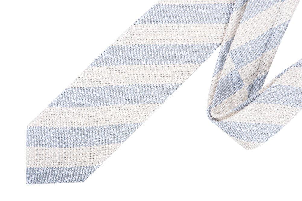 Tom Ford Light Blue Striped Silk Tie
