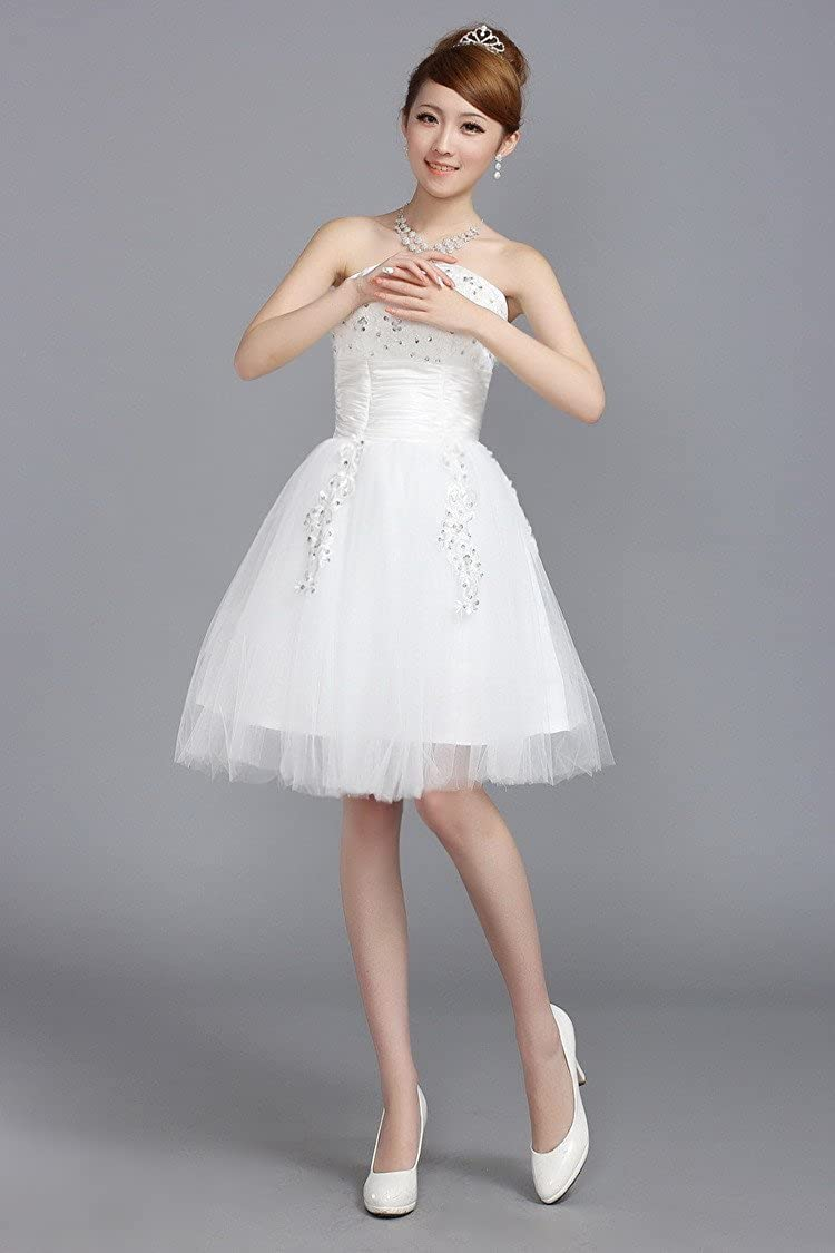 the bride toast dress Womens new fashion Short tutu wedding