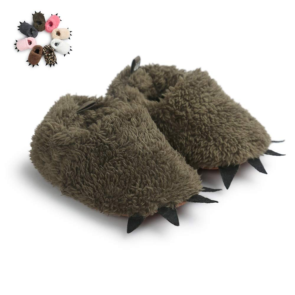 Wollanlily Baby Boys Girls Shoes Bear Paw Animal Slippers Slip On Boots Warm Newborn Infant Crib Shoes