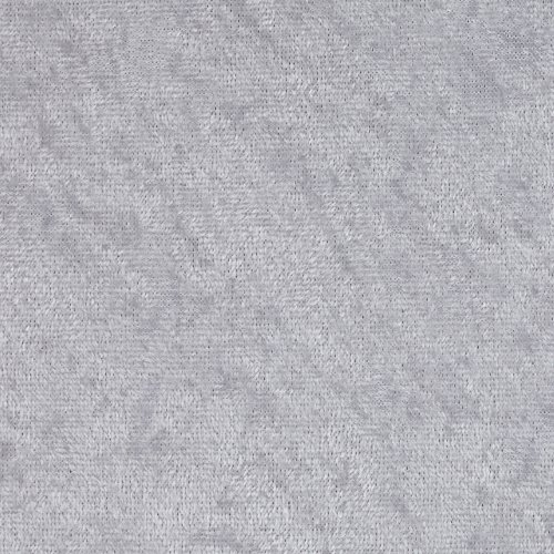 Ben Textiles Stretch Panne Velvet Velour Silver Fabric by The Yard,