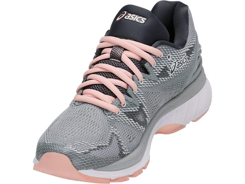 ASICS Women's Gel-Nimbus 20 Running Shoe, mid grey/mid grey/seashell pink, 5.5 Medium US by ASICS (Image #2)