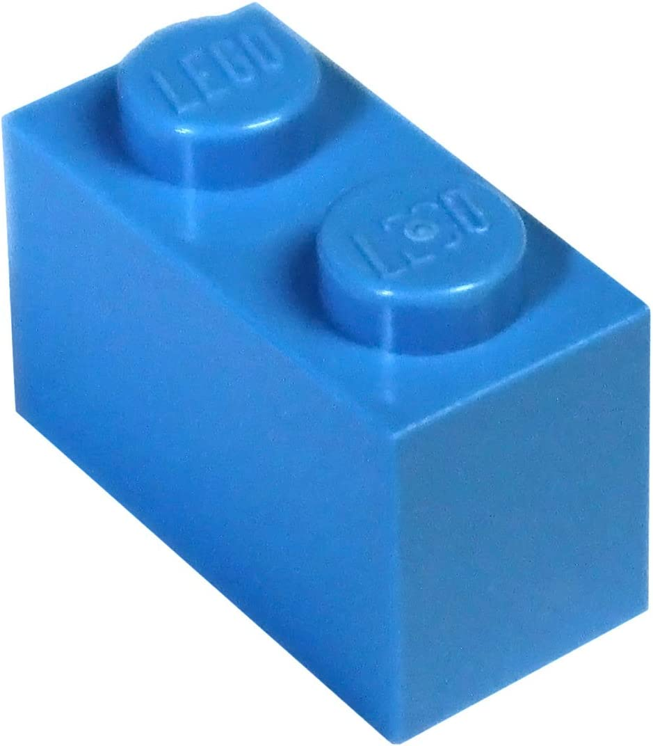 LEGO Parts and Pieces: Dark Azure (Deep Blue) 1x2 Brick x200