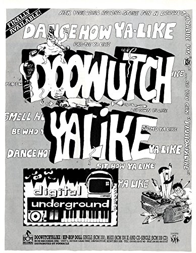 Digital Underground : Doowutchyalike / Hip Hop Doll Record Mirror Advertisement 11x8