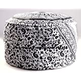 """Large Bohemian Pouf Ottoman Mandala Footstool Round Floor Pillow Ottoman Living Room Indian pouf Cover Throw 24"""" By Handicraft-Palace"""