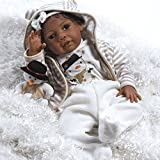 Paradise Galleries Reborn African American Black Baby Doll Kione - 20 inches (51 cm) Girl in Soft Vinyl & Weighted Body, 8-Piece Set