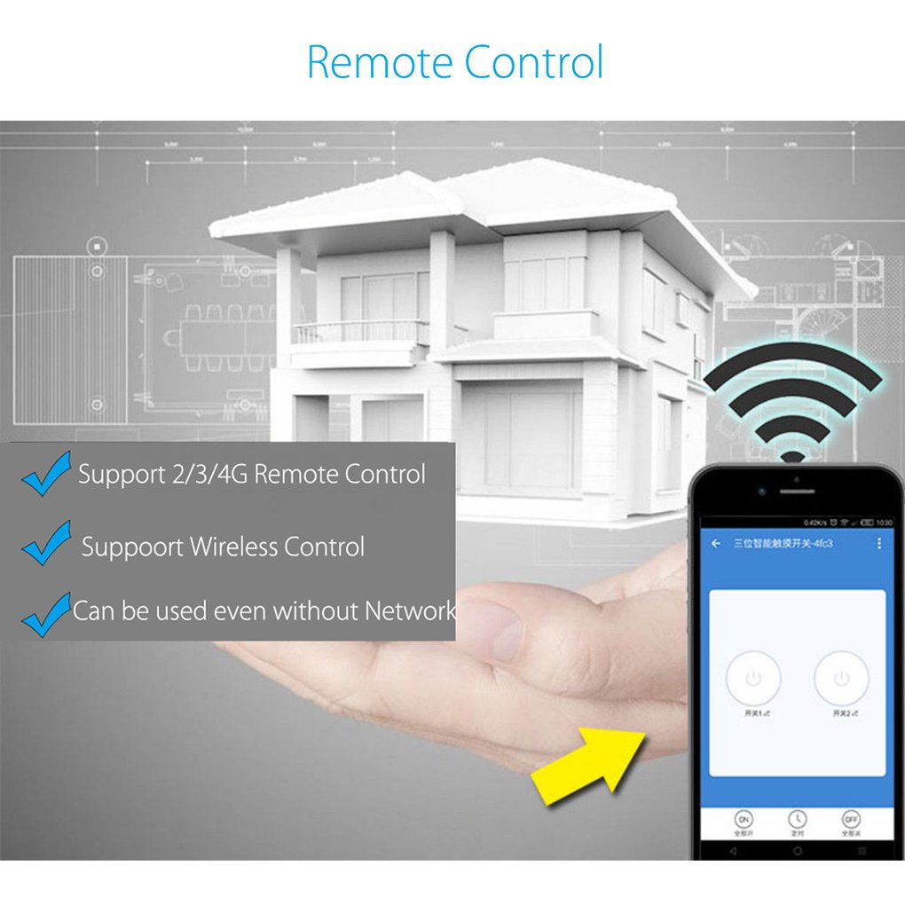 Sonoff T1 Smart Wifi Rf App Touch Control Wall Light