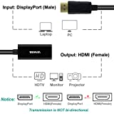 DisplayPort to HDMI Adapter 2 Pack, Benfei DP