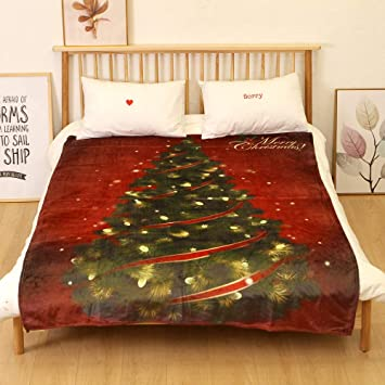 Christmas Throw Blanket Christmas Theme Series Super Soft Cozy Blanket  150x200CM Warm Flannel Fleece Winter Lightweight cf7ec1b9f