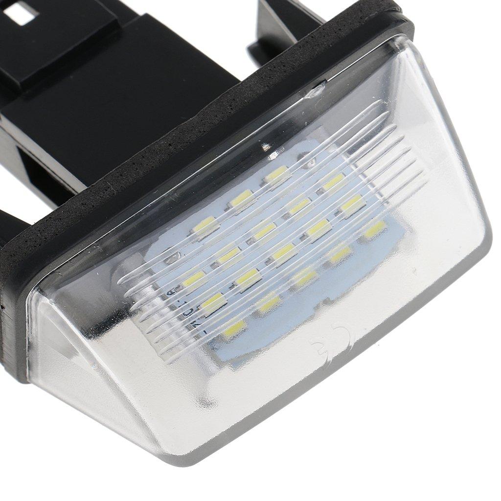 Gazechimp 2pcs Car Auto Rear White 18 LED Number Plate Light For Citroen C3 C4 Picasso