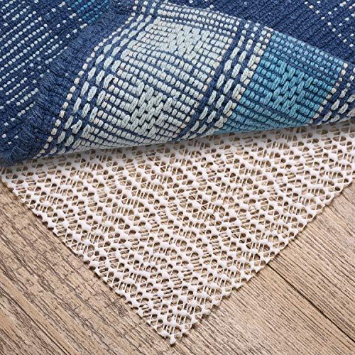 Non Slip Rug Pads for Hardwood Floors,6'x9' Size Rug Gripper for Carpeted Vinyl Tile Floors with Area Rugs,Runner Anti Slip Skid(Open Wave) (Liner Slip Rug Non)