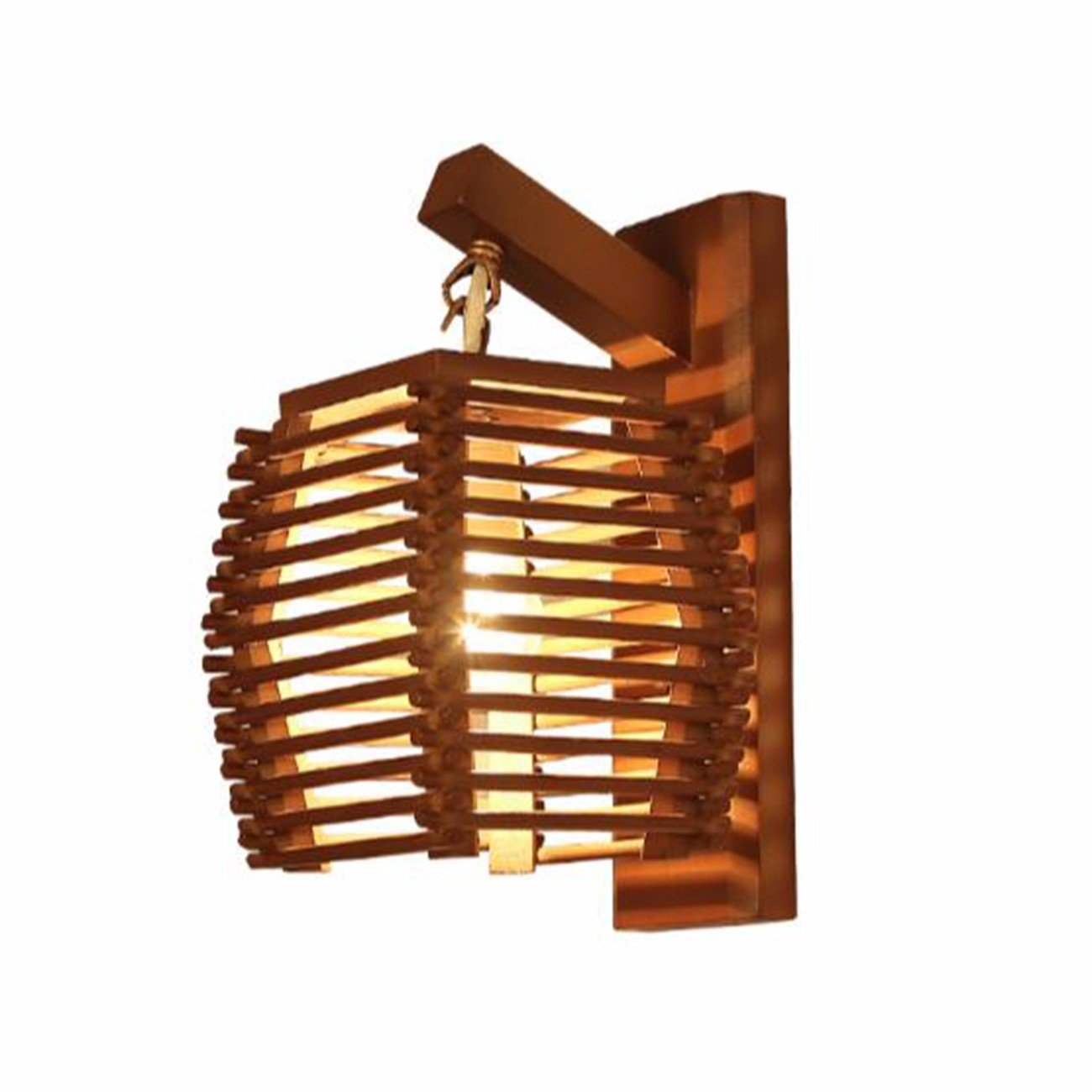 T-ZBDZ Restaurant Wand Lampe Wohnzimmer Schlafzimmer Nachttischlampe Licht Treppe Korridor Gang klassische nostalgische Massivholz Wandleuchte
