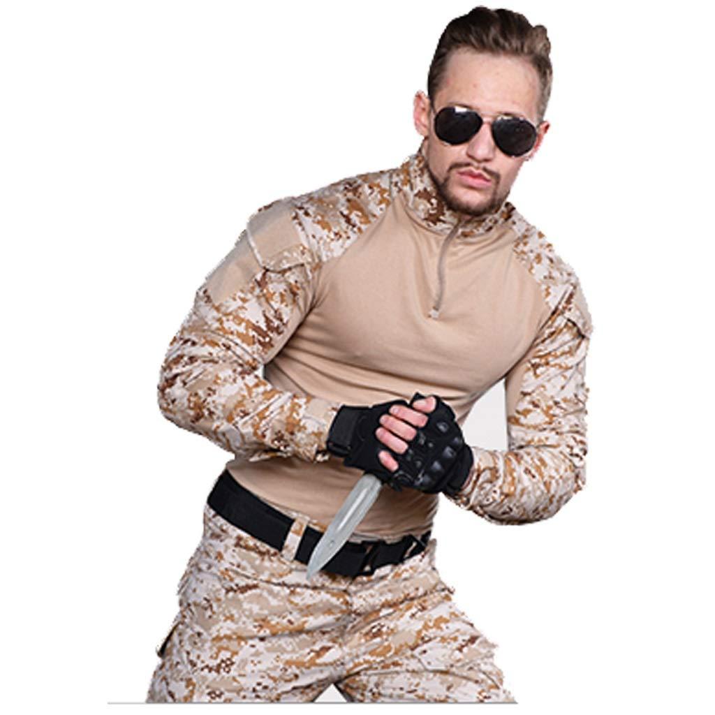 砂漠迷彩スーツ、メンズミリタリーコンバット制服スリム特別カエル衣装Csミリタリーユニフォームフィールドトレーニングスーツスポーツスーツジャケット迷彩パンツ (サイズ さいず : S s) S s  B07MPR3BSZ