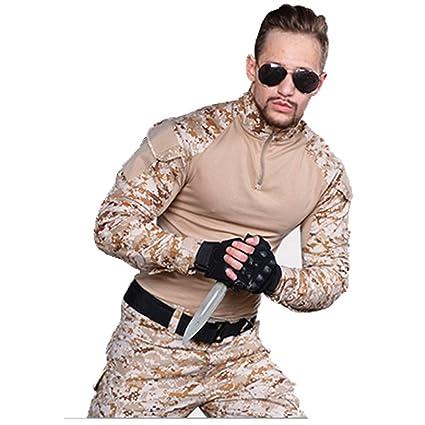 Amazon.com: ALLIWEI Desert Camouflage Suit, Mens Military ...