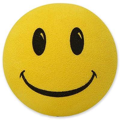 Tenna Tops Happy Smiley Face Car Antenna Topper/Antenna Ball/Rear View Mirror Dangler/Desktop Spring Stand Bobble (Lemony Yellow): Automotive