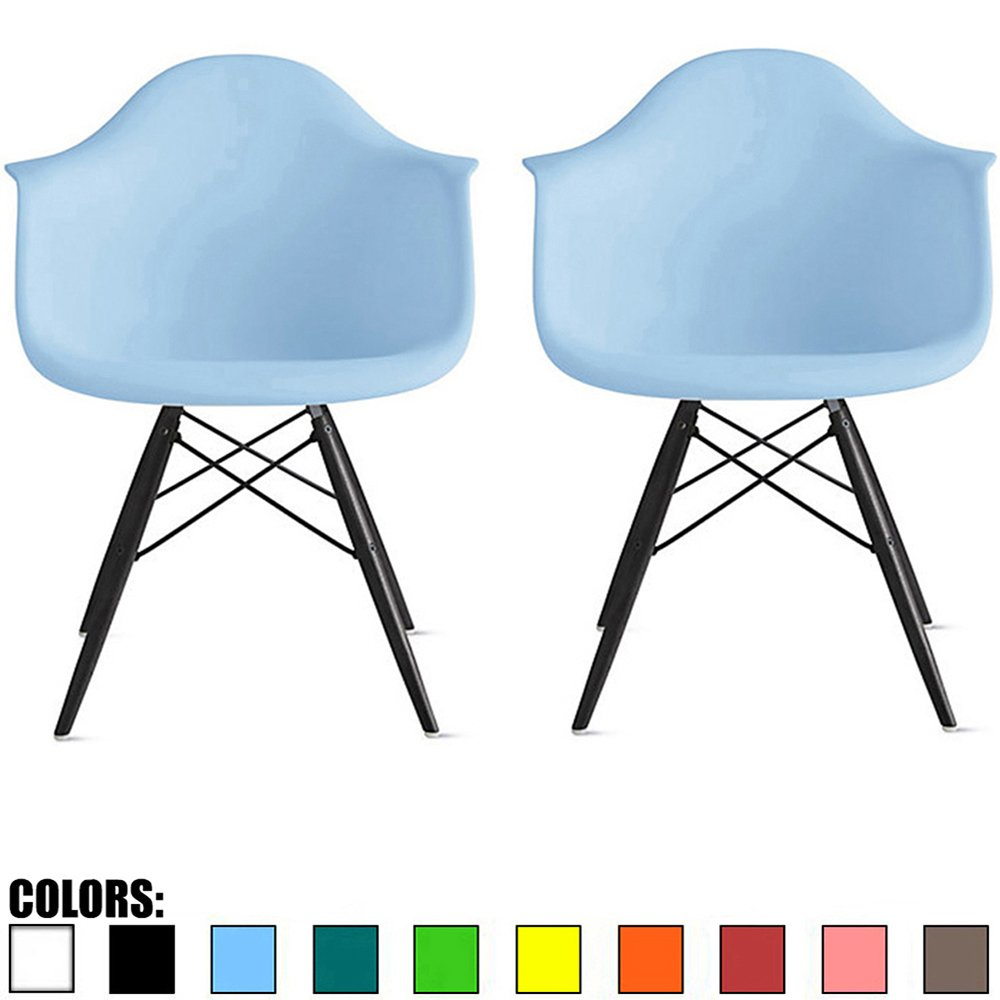 Modern office chair no wheels Decorating Ideas 2xhome Set Of Blue Mid Century Modern Designer Contemporary Vintage Office Chairs Dining No Wheels Living Kitchen Guest With Arms Armchairs Solid Back Dontpostponejoyinfo Top Modern Desk Chair No Wheels 2018
