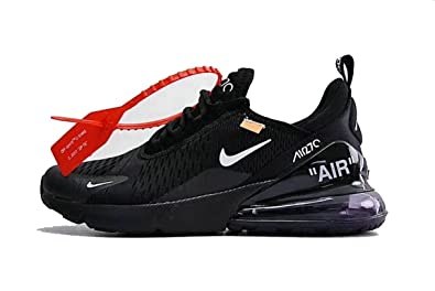 RealMAX Off White X Air Max 270 Black White Mens Womens