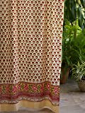 Tropical Garden (CP) ~ Country Cottage Colorful Curtain Panel 46×63