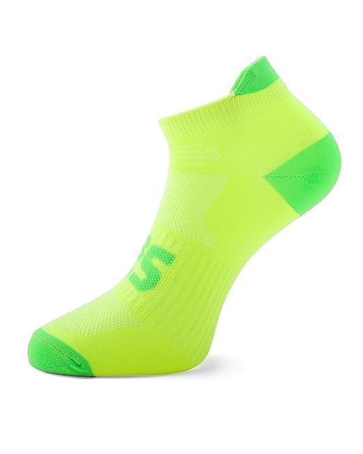 SLS3 | Calcetines para correr finos | Anti Ampollas | Colores ultra ligeros de neón |