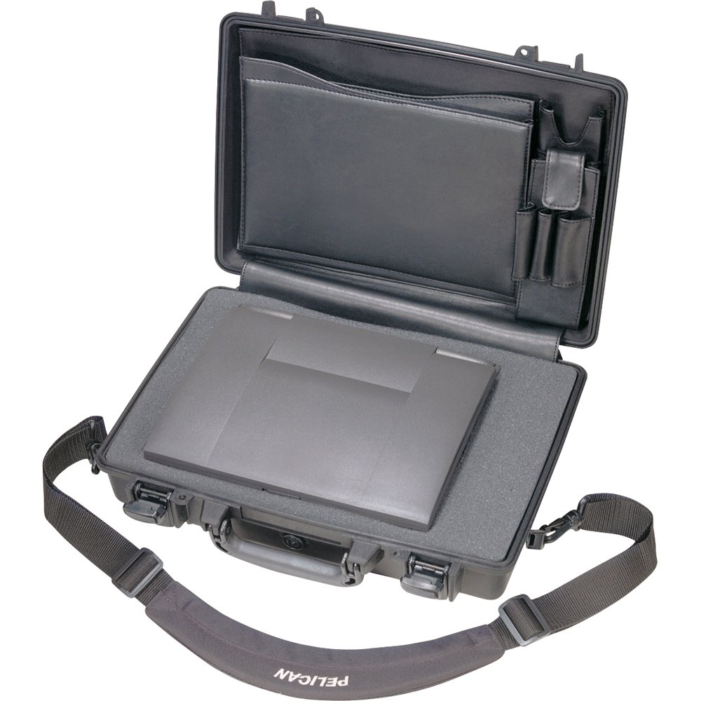 Pelican 1490 CC2 Black Laptop Case Deluxe with Foam 14'' x 19.88'' x 4.63''