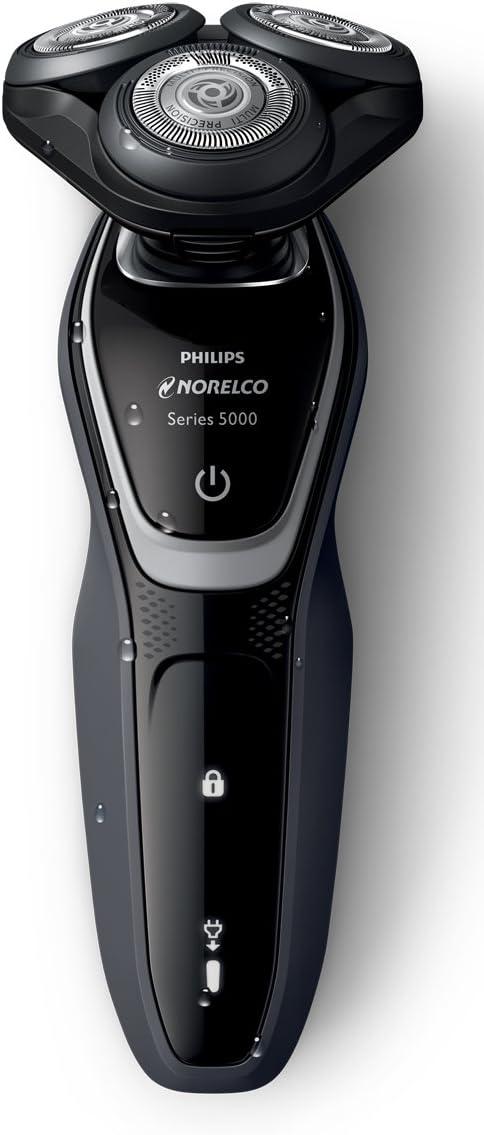 Philips Norelco Shaver 5100 S5210/81 - Afeitadora (Máquina de afeitar de rotación, 2 año(s), Negro, Gris, Batería, Ión de litio, 1 h): Amazon.es: Hogar