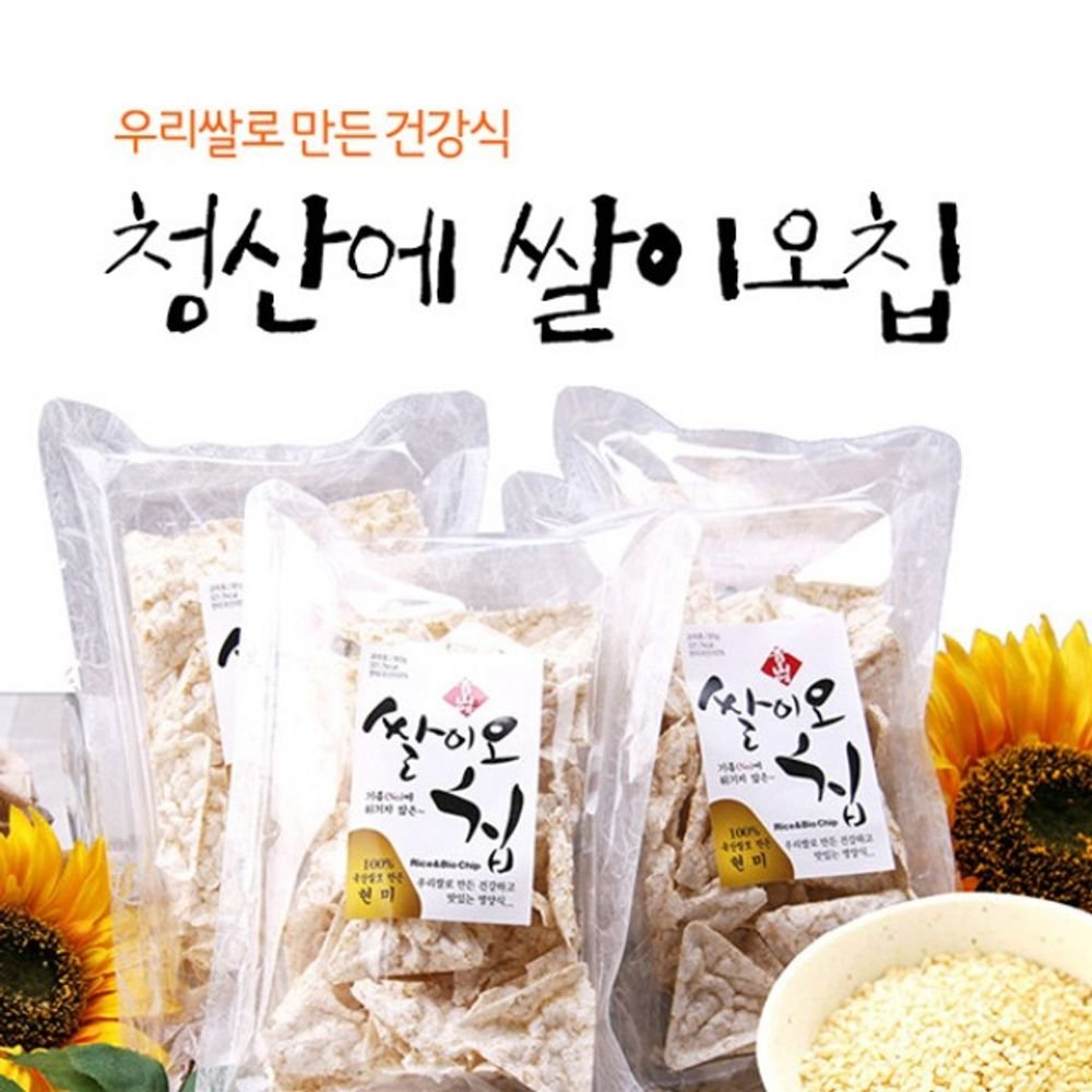Brown rice flour not fried in oil Rice Chip 185g 1 bag Product of Korea