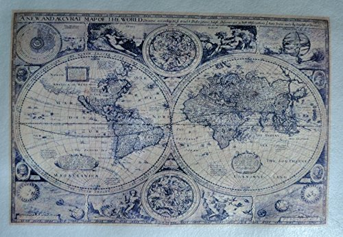 Old World Map 2 ~ Edible Wafer Paper Sheet ~ BUY TWO GET THIRD FREE!