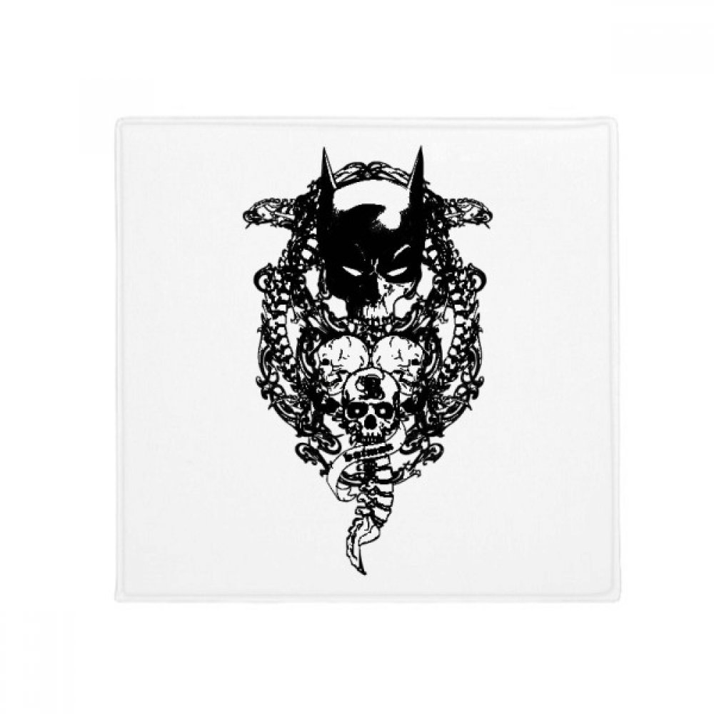 DIYthinker Pirate Skeleton Decoration Pattern Anti-Slip Floor Pet Mat Square Home Kitchen Door 80Cm Gift