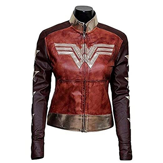 The Outerwear Wonder Ladies Brown Waxed Leather Jacket Red Brown