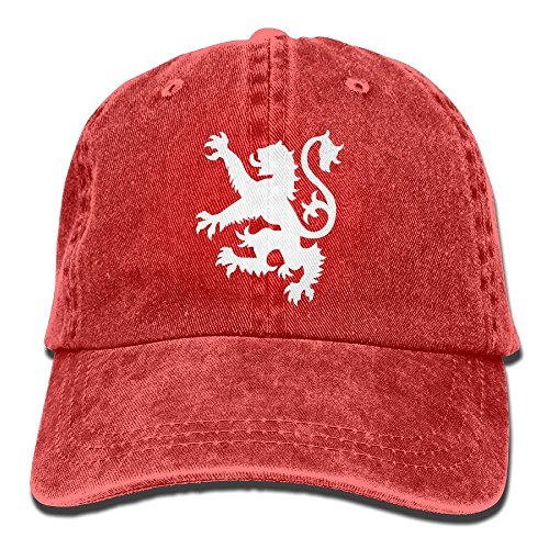 KAOMAOXI Scottish Flag Lion Logo Unisex Retro Washed Dyed Cotton Adjustable Gym Cap Dad Trucker Hat