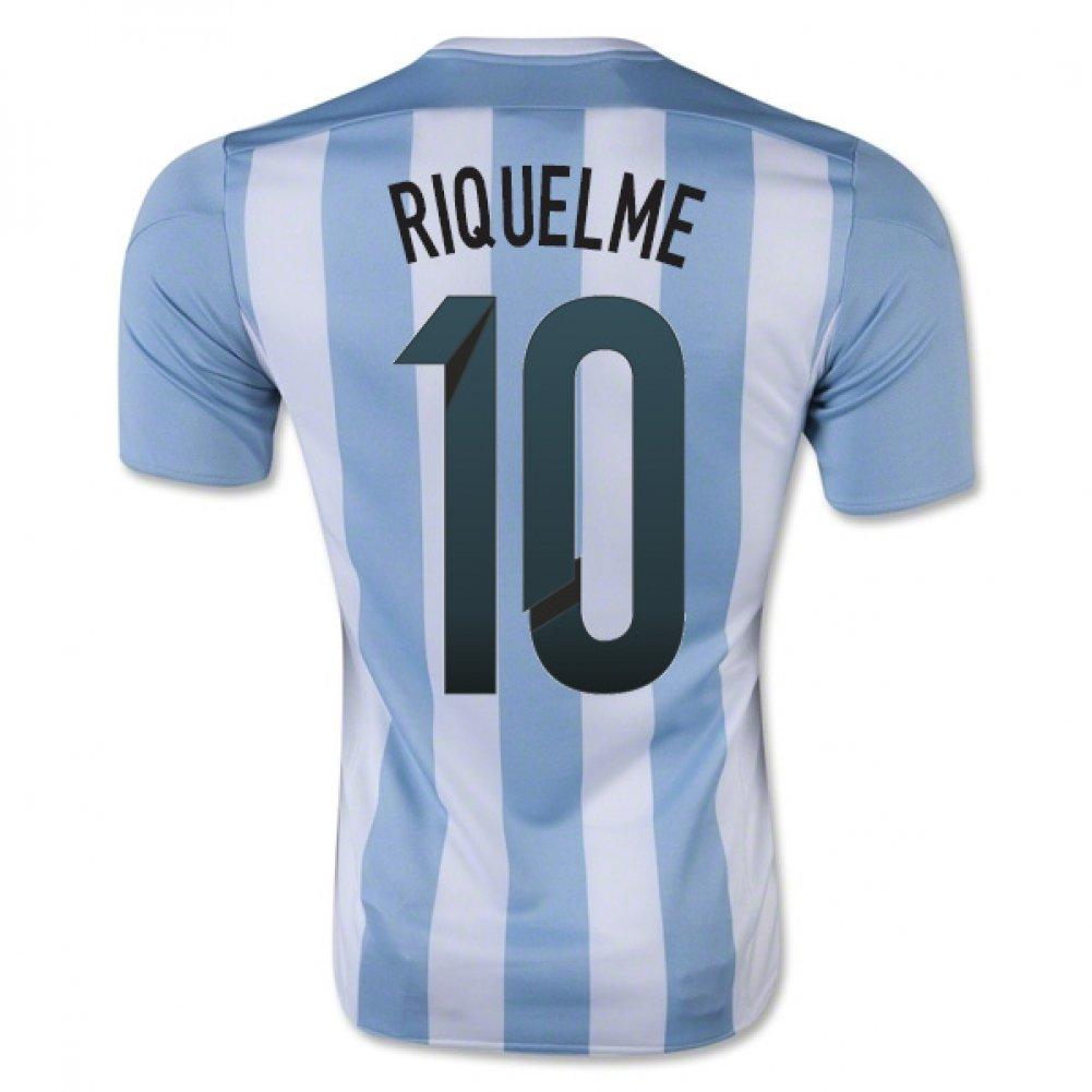 2015-16 Argentina Home Football Soccer T-Shirt Trikot (Juan Roman Riquelme 10) - Kids