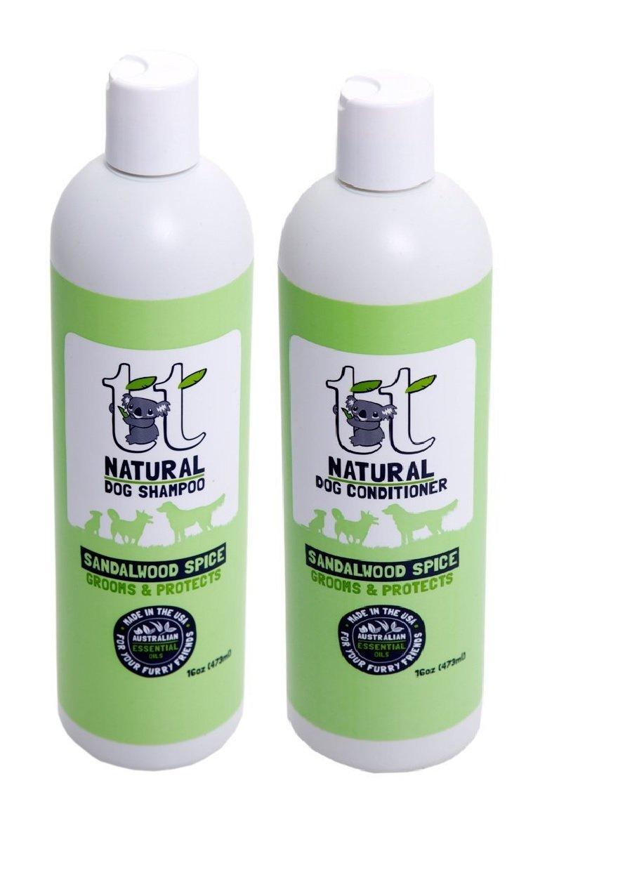 ordina ora i prezzi più bassi Sandalwood Spice Natural Dog Dog Dog shampoo e balsamo Duo 453,6 gram  benvenuto a scegliere