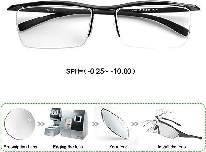 Mens Reading Glasses 5.00 0.25 to Lenses From Prescription Lens Quality