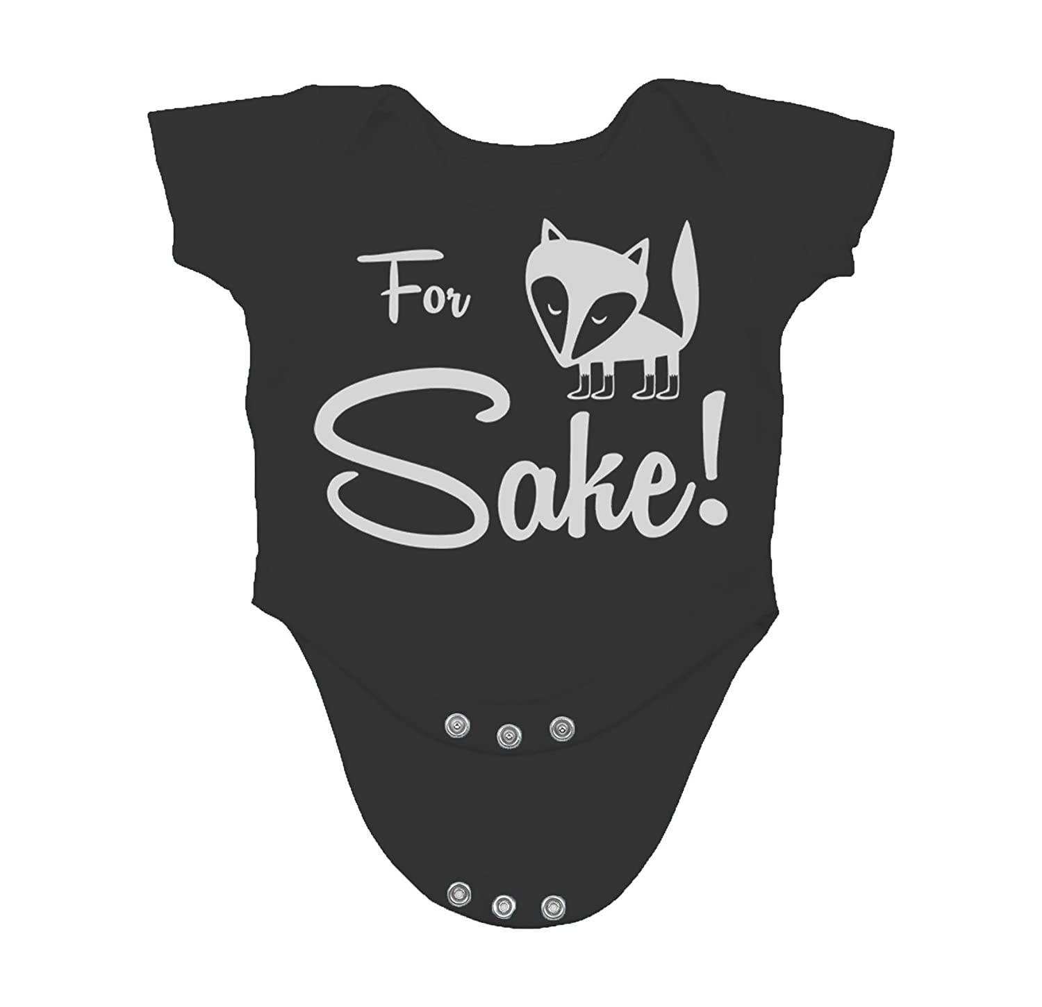 Amazon com for fox sake humor quote funny saying cute novelty infant creeper one piece baby bodysuit clothing