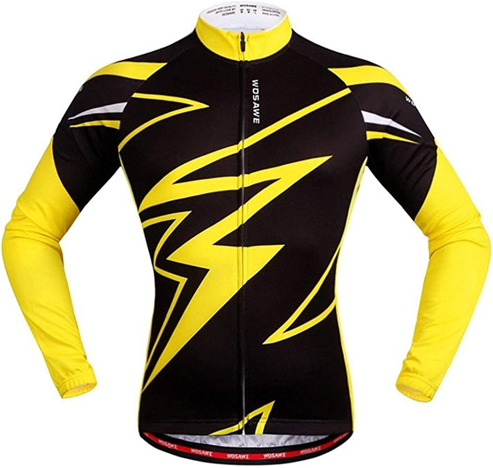 HENGMANHONG Long-Sleeved Jersey Sweat-Absorbent and Quick-Drying Long-Sleeved Jersey