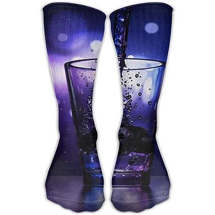14b84132c61c Amazon.com  Liquor Wine Glass Women   Men Socks Soccer Sock Sport Tube  Stockings Length 11.8Inch  Sports   Outdoors